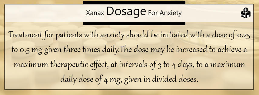 Xanax Dosage for Anxiety